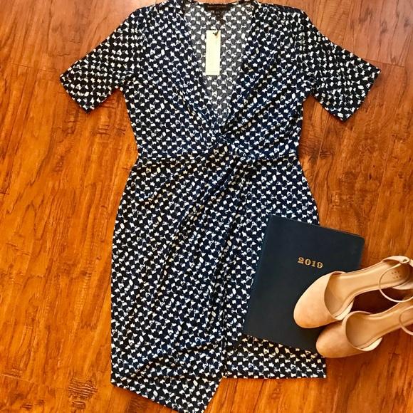 Banana Republic Dresses & Skirts - NWT Printed asymmetrical wrap dress